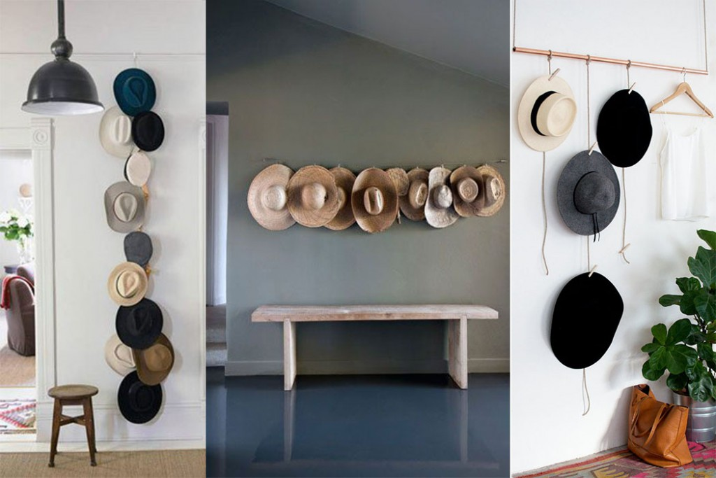 Hats as wall decoration