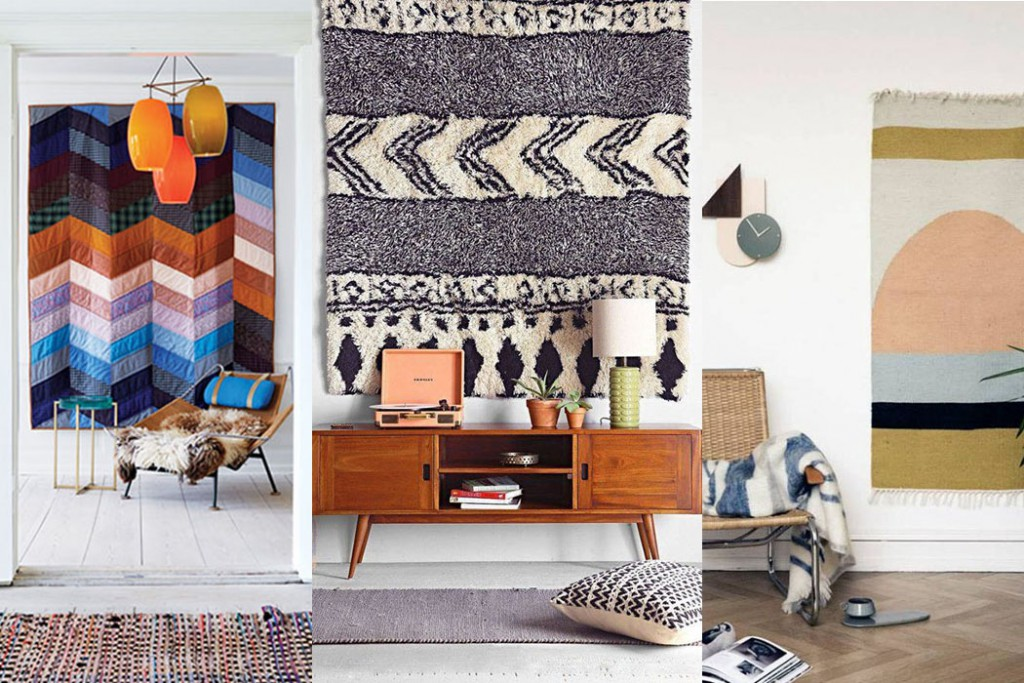 Rugs as wall decoration