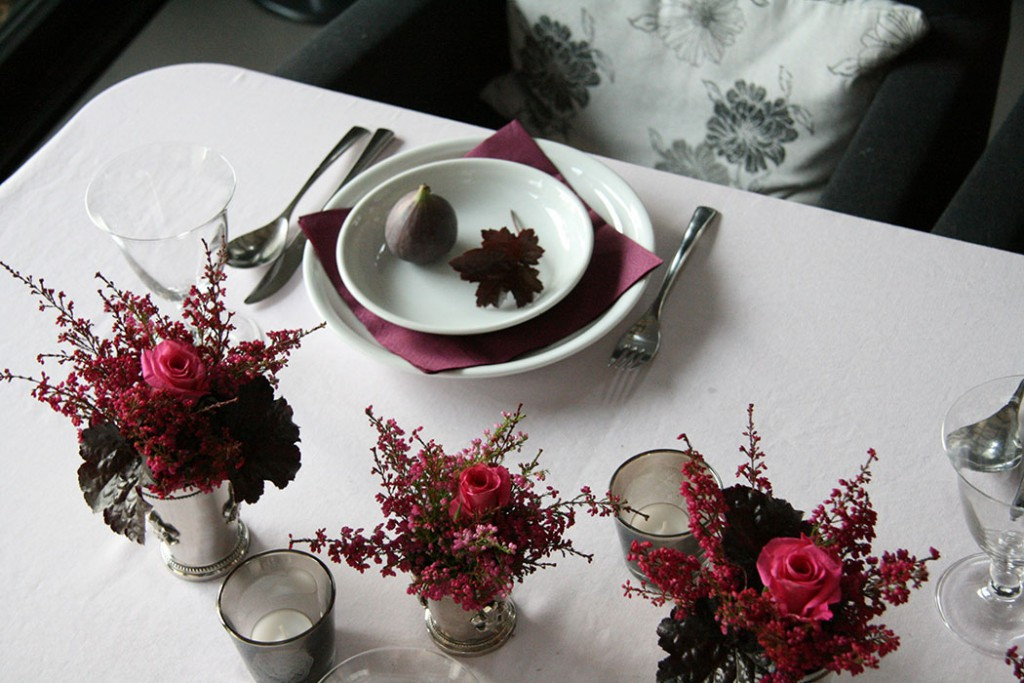 Fall table decoration set