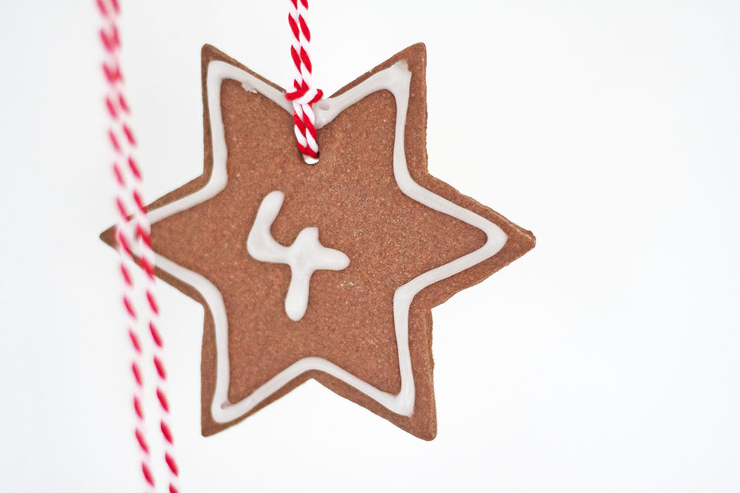 Last Minute Adventskalender basteln - backen Stern mit Nummer DIY Anleitung - DIY blog lindaloves