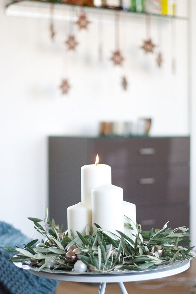 dekoration adventskranz mit olivenzweigen deko diy blog. Black Bedroom Furniture Sets. Home Design Ideas