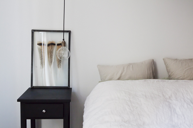 Framed Feathers Bedside