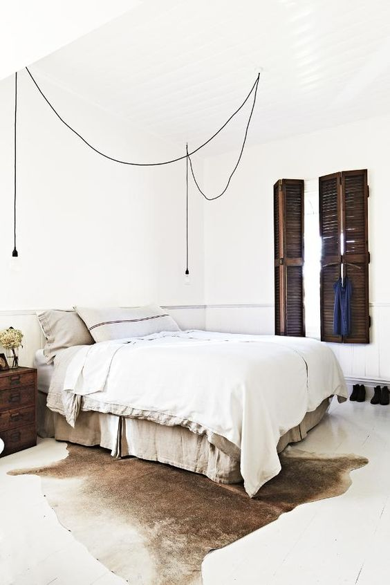 Bedroom Exposed Wires Lamp left and right