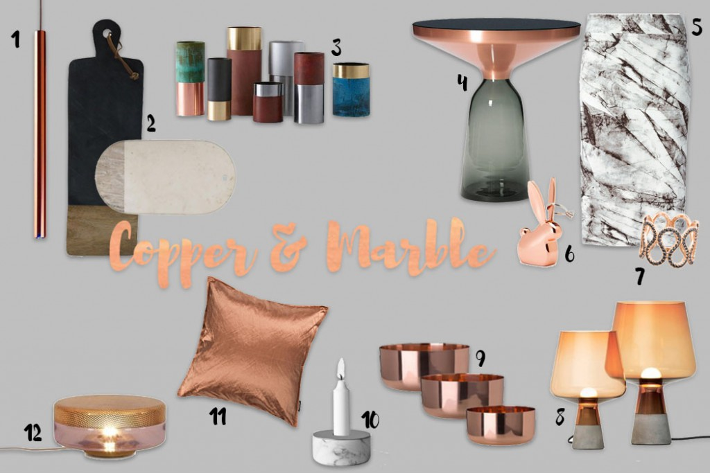 Copper and Marble Collage