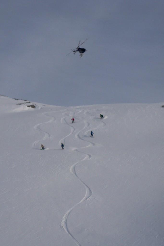 Team Skiing Heli Skiing