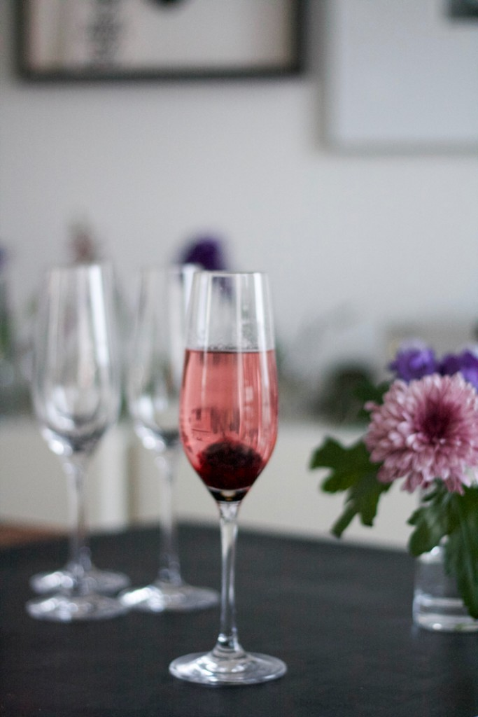 Kir Royal with a twist - Blackberry Rosemary Prosecco Cocktail
