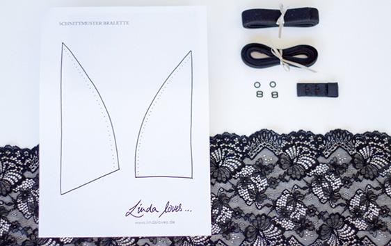 Spitzen Bralette Do-it-yourself DIY Material Set Kit