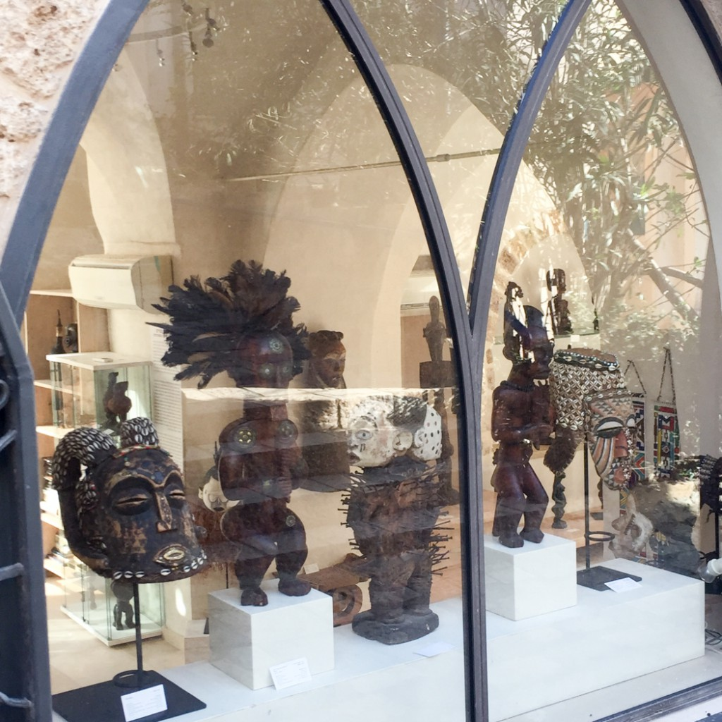 Jaffa Tel Aviv old town - african sculptures