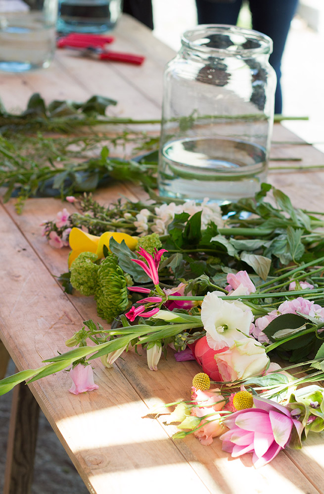 Bloomon Flower Workshop Flower preparation to assemble a beautiful bouquet