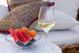 Spanish Outdoor Deco pink with Wine and Watermelon - Lindaloves