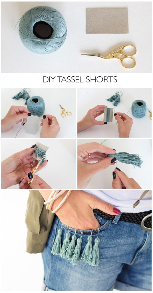 Tassel Shorts DIY Linda loves