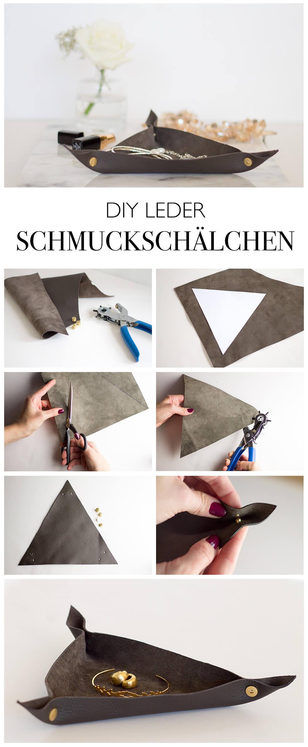 DIY LEDER SCHMUCK SCHALE