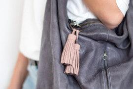 DIY Leder Tassel an Handtasche - Anleitung zum selber machen