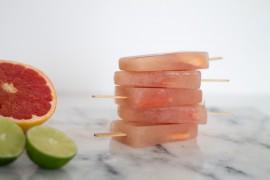 DIY Rezept Grapefruit Eis am Stil gestapelt - lindalovesde