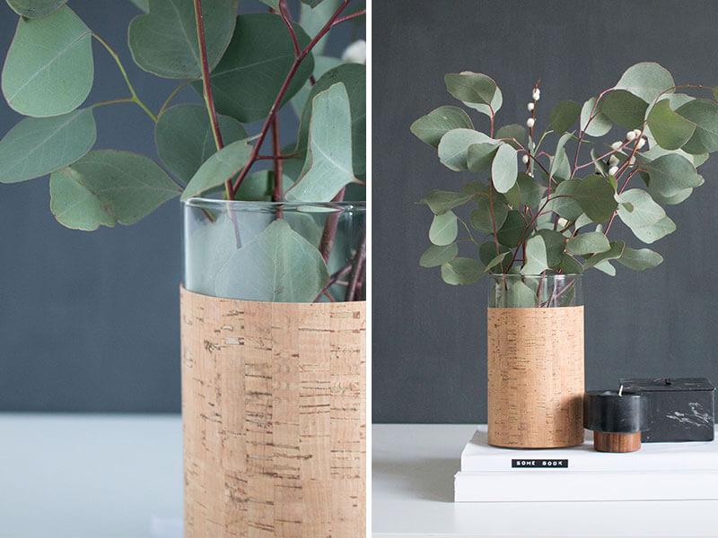 Vase aus Kork - itsprettynice.com - Die schoensten Interior Deco DIY - lindalovesde
