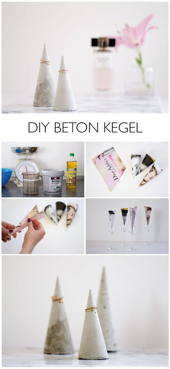 Betonkegel DIY als Schmuckhalterung - lindaloves.de do-it-yourself Blog