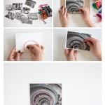 DIY Anleitung Postkarten besticken