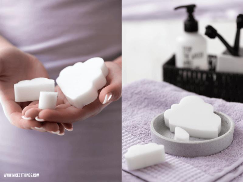 Vera von nicest things zeigt in ihrem DIY wie man Seife in Wolkenform gießt