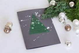 Weihnachtspostkarten besticken DIY