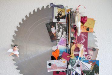 DIY Deko Magnetpinnwand aus Sägeblatt