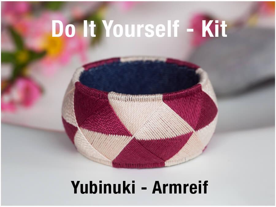 Armreifen besticken Yubinuki japanische Handwerkskunst DIY Set Verlosung