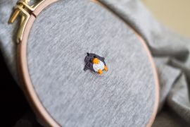 Pinguin sticken Do-it-yourself Blog Tutorial