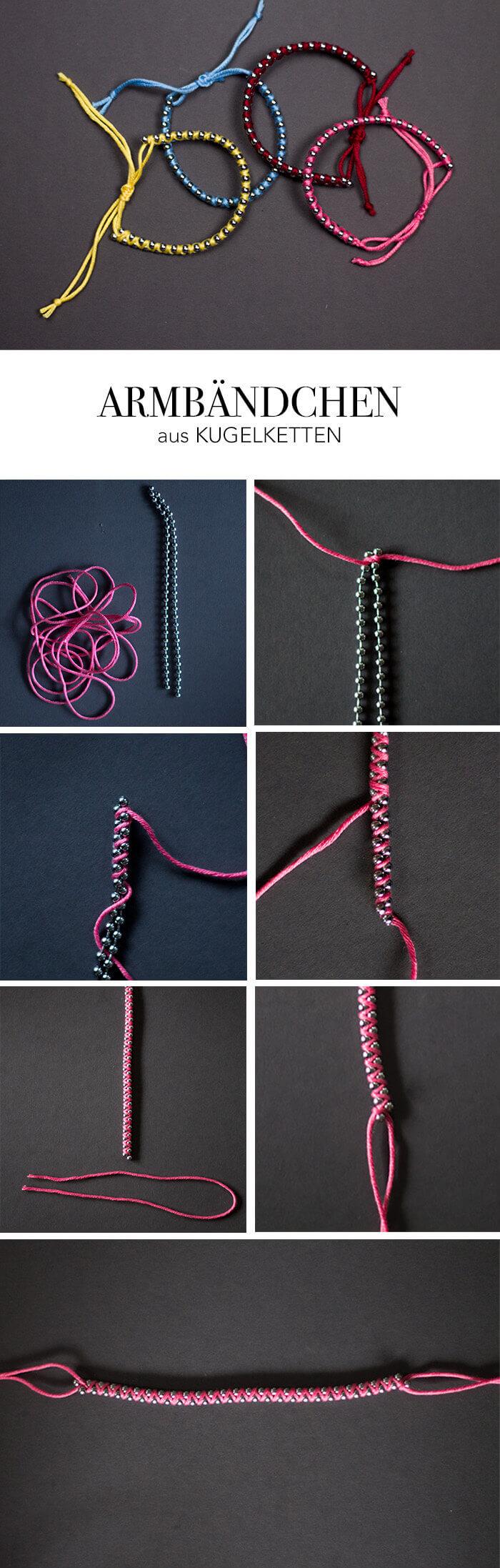 DIY Anleitung Armband aus Kugelkette - Do it yourself Blog lindaloves.de