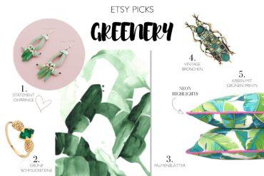 Auswahl Etsy picks - Selbstgemachtes in grün - DIY Blog lindaloves.de