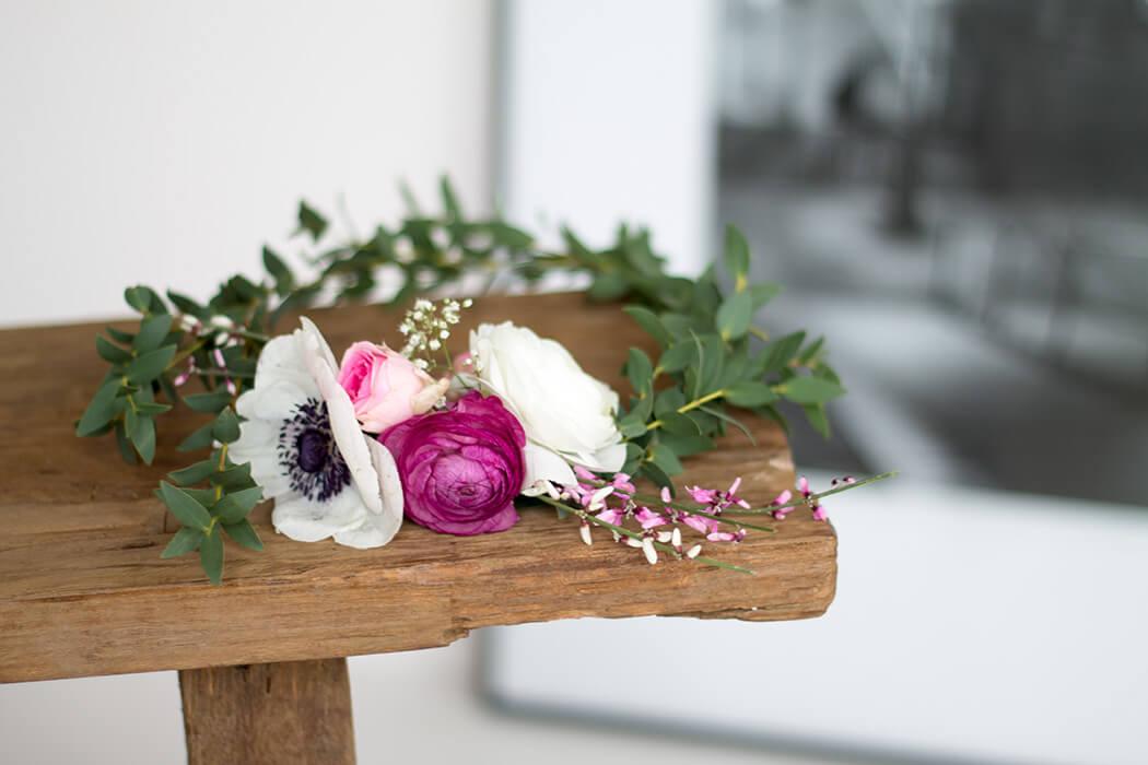 Blumenkranz selber machen - DIY Ideen für die Hochzeit - Step by Step Anleitung zum selbermachen