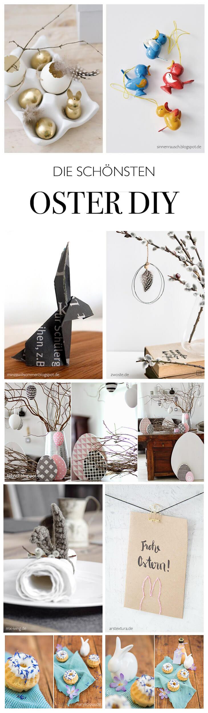 die schönsten Oster Deko DIY Ideen - von meinen liebsten Do-It-Yourself und Lifestlye Blogs