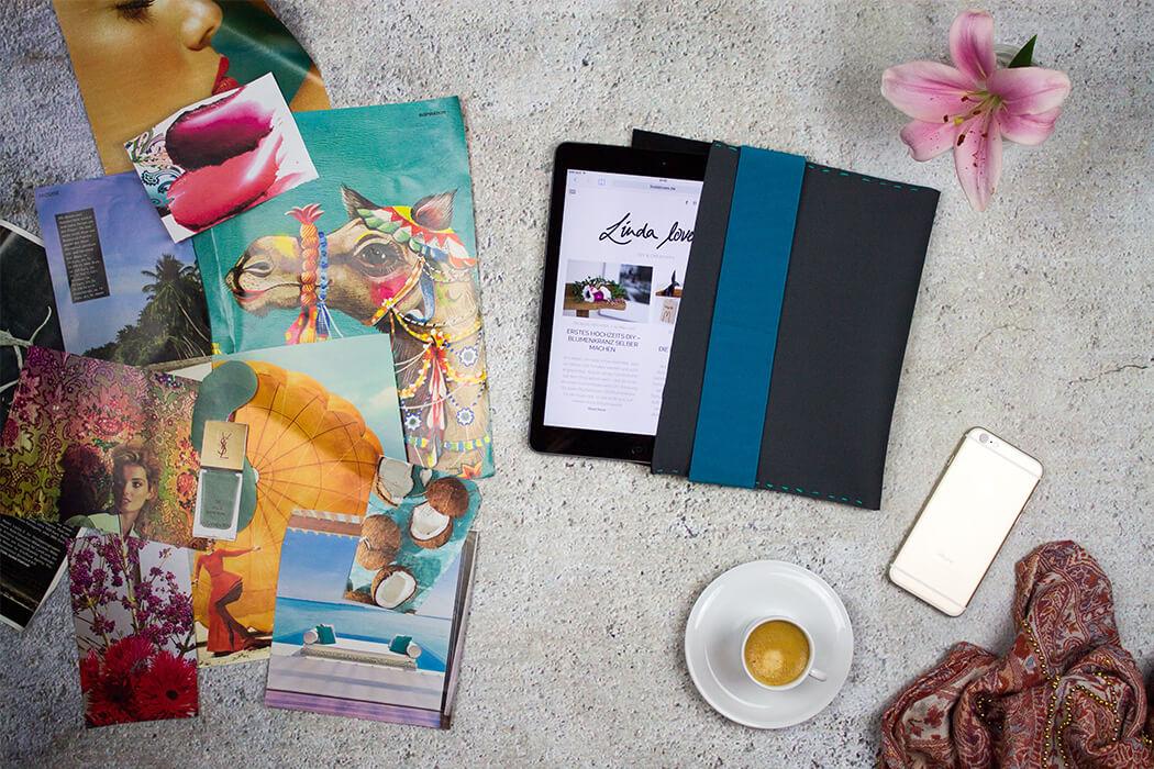 DIY Neopren Tablet Hülle selber machen - DIY Anleitung zum selber nähen do-it-yourself- DIY Geschenkidee - Blog lindaloves.de
