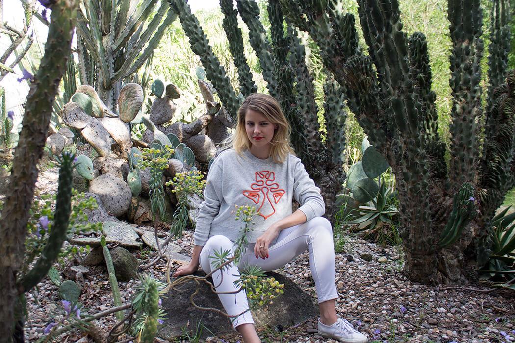DIY Anleitung Kordel sticken Pullover Upcycling Fashion Mode DIY Blog