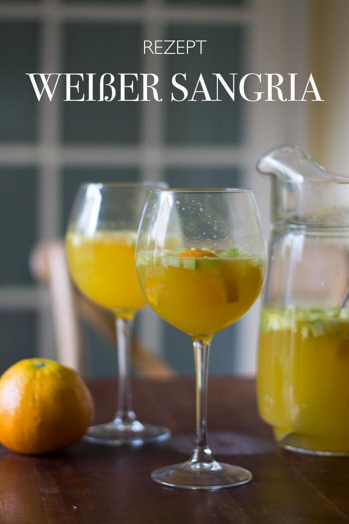 Rezept weißer Sangria mit Orangen - DIY Blog lindaloves.de