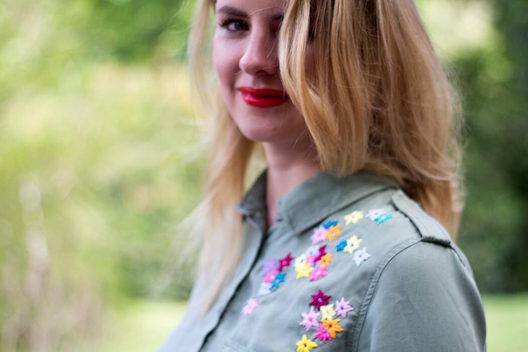 DIY Bluse besticken für Anfänger - DIY Blog lindalovesde