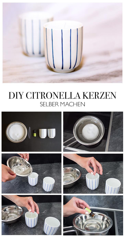 Citronellakerzen selber machen - DIY Anleitung zum Kerzen gießen