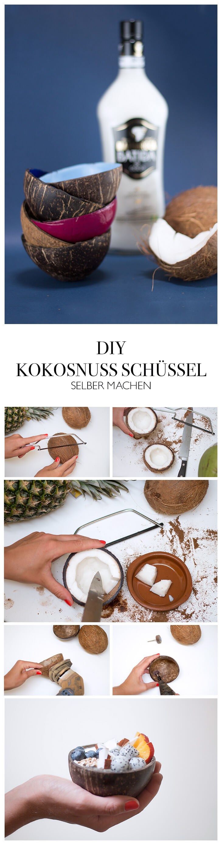 diy anleitung kokosnussschalen selber machen. Black Bedroom Furniture Sets. Home Design Ideas