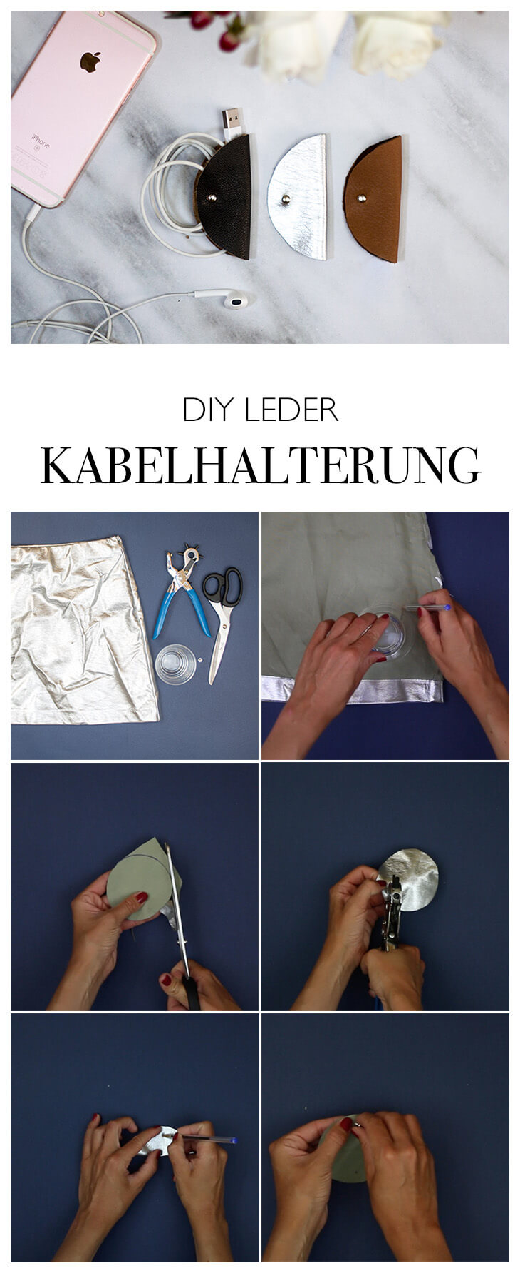 LEDER DIY - EINFACH GESCHENKIDEE - KABEL ORGANISER