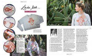 Burda Easy Presse Feature 09 2017 - DIY Blog lindaloves.de Fashion Upcycling Pullover mit Kordel verzieren