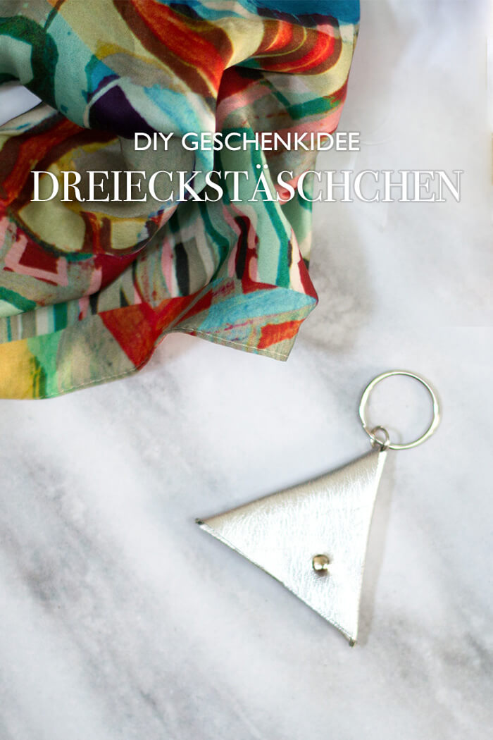 DIY Geschenkidee - Dreieckstäschchen basteln