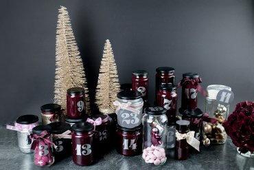 DIY Adventskalender aus Glas selber machen - Basteln für Weihnachten DIY