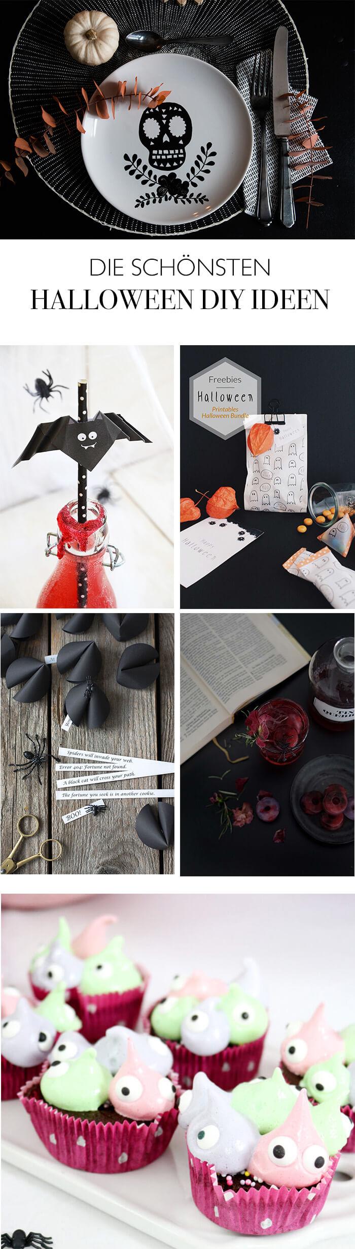 Halloween DIY Ideen von meinen liebsten DIY Blogs - Halloween Deko basteln - Halloween Cocktails mixen - Monster cupcakes backen