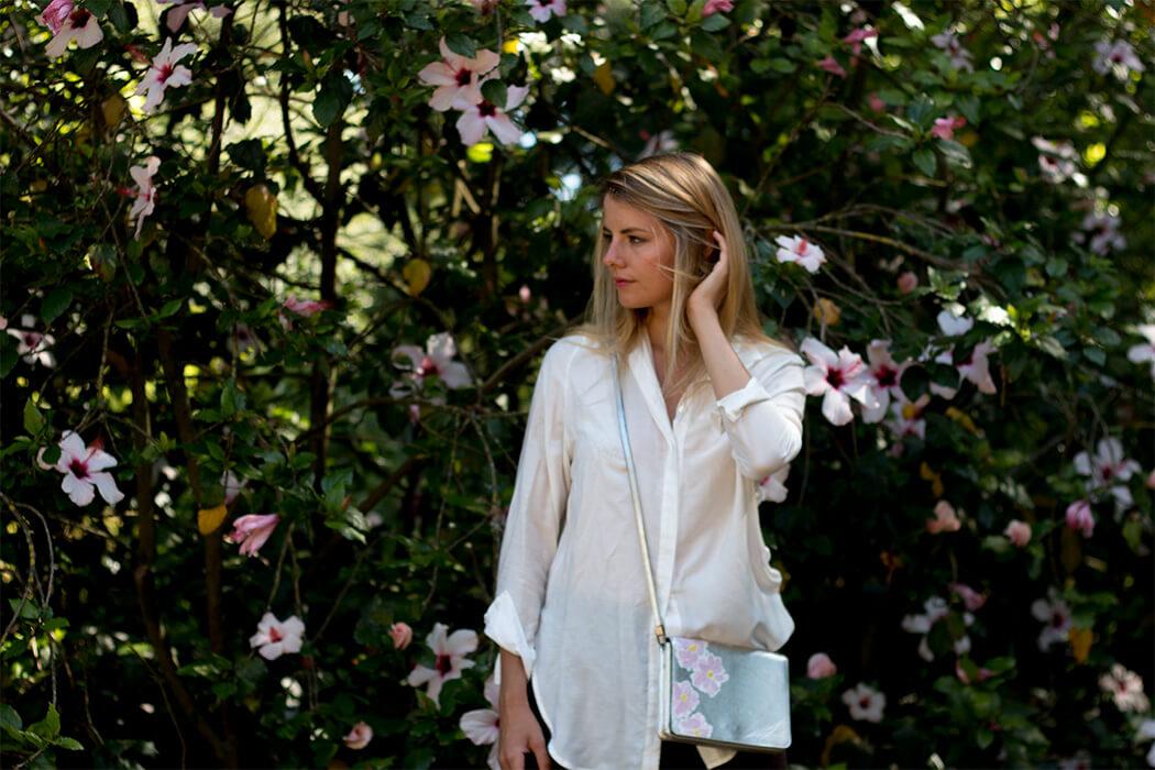 DIY silberne Handtasche bemalen do-it-yourself Blog - Fashion selber machen