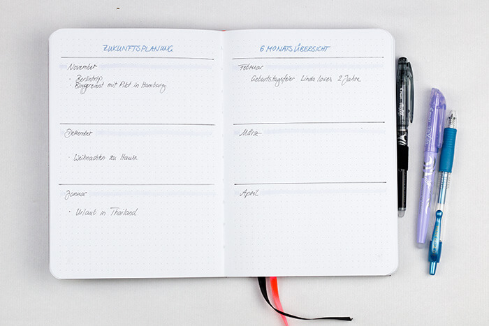 Bullet Journal für Anfänger DIY Blog do it yourself Kalender Organisation