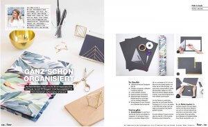 DIY Blog lindaloves.de im Flow Magazin zum Thema Organisation