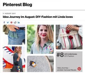 DIY Blog lindaloves.de als Teil der Pinterst Idea Journey
