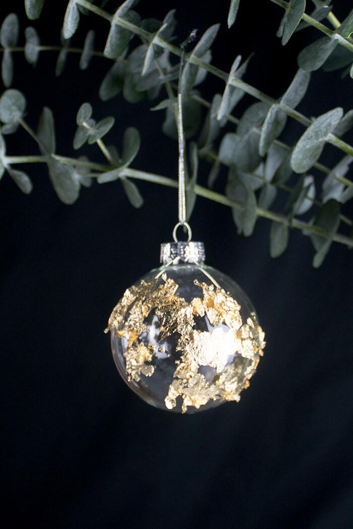 Diy weihnachtsbaum mit eukalyptus linda loves diy blog diy - Blattgold zum basteln ...