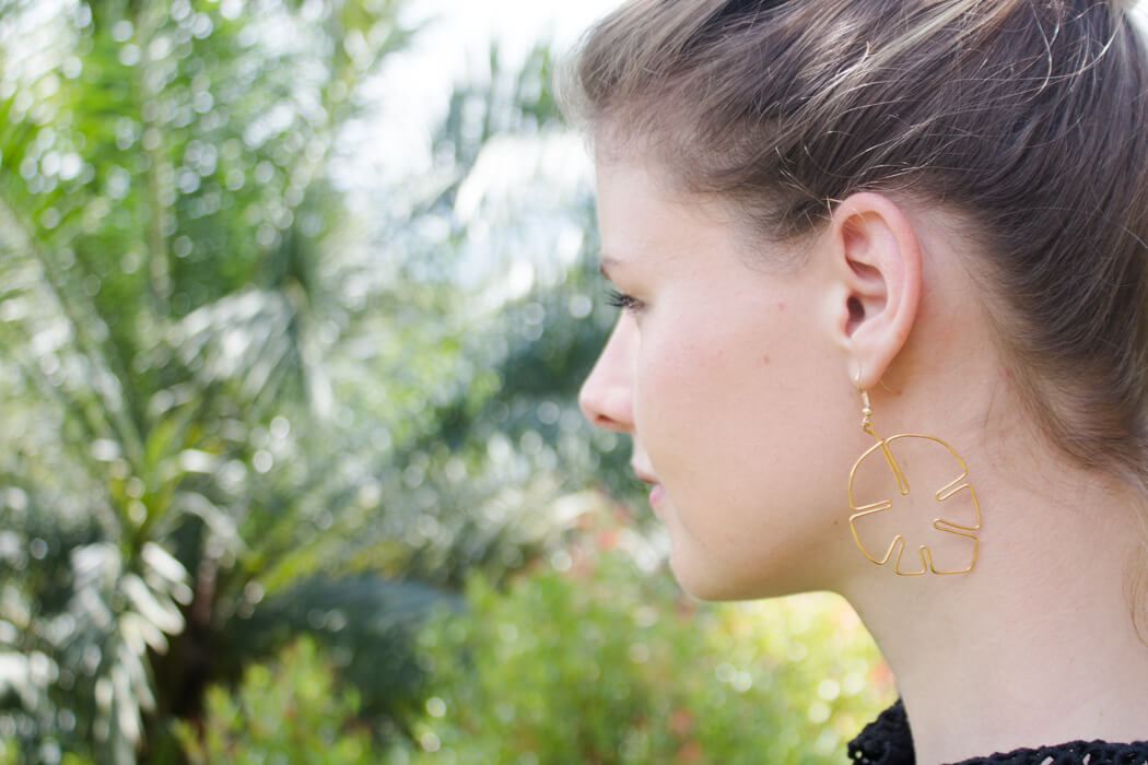 Ohrringe aus Draht biegen - DIY Schmuck - Basteln Blog DIY