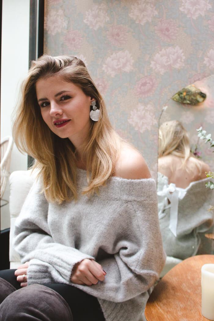 DIY Blog- Upcycling - geschnürter Pullover, tiefer Rückenausschnitt