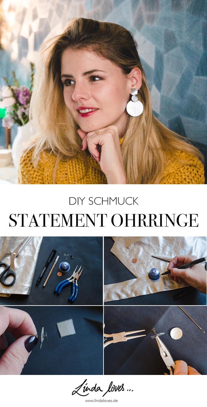 DIY Statement Ohrringe selber machen - DIY Blog lindaloves.de