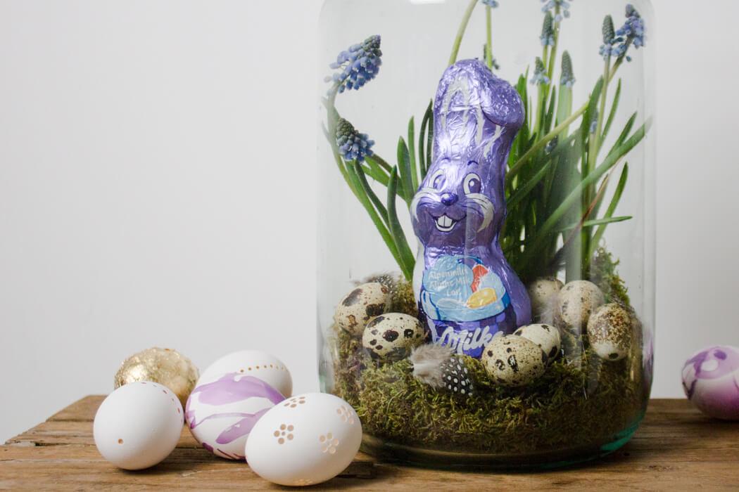 DIY Ostereier bemalen gravieren Nagellack marmorieren DIY Blog Ostern